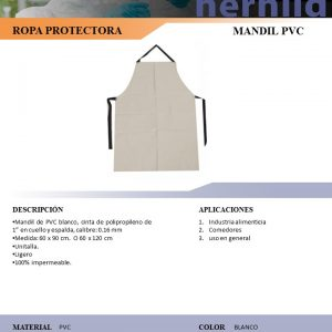 MANDIL PVC