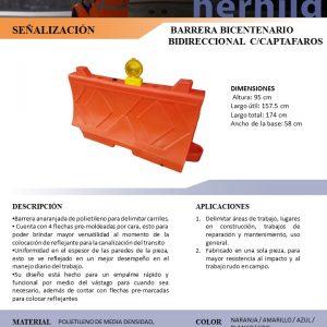 BARRERA BICENTENARIO BIDIRECCIONAL C-CAPTAFAROS